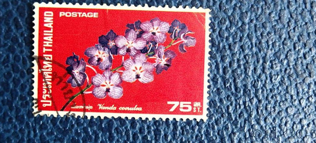 Thailand postage .75 Baht Vanda coerulea